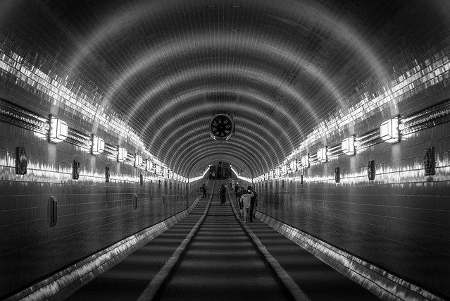 In the belly of the worm / the old tunnel, all new and shiny