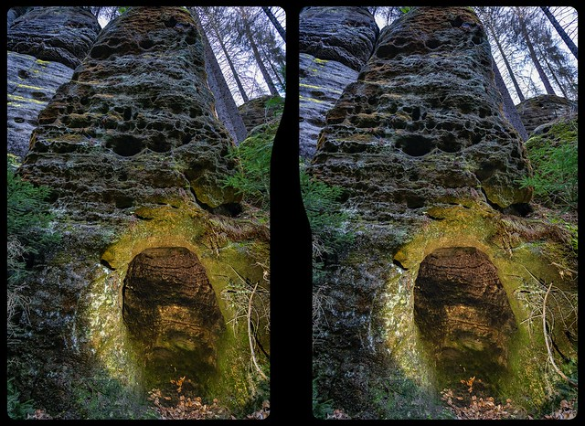 Rock chamber 3-D / CrossEye / Stereoscopy