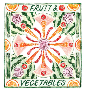 Fruit and veg pattern