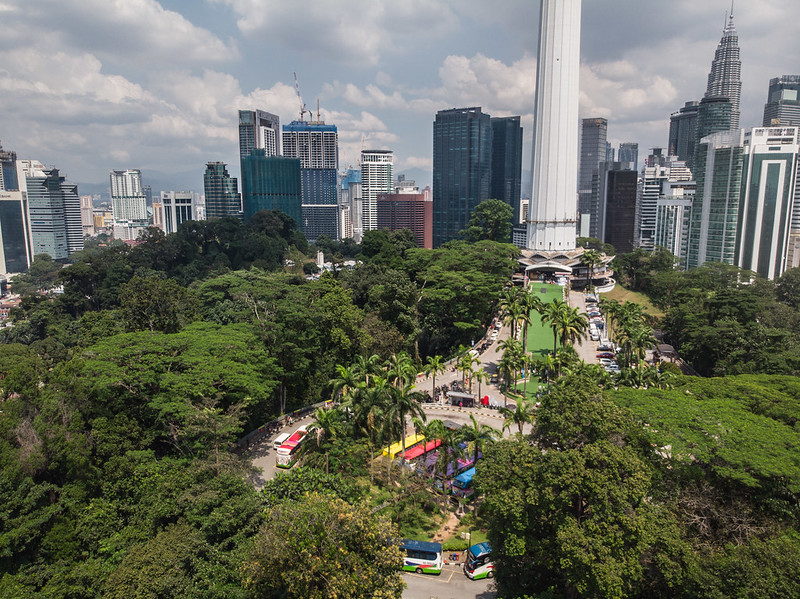 KL Tower and park view