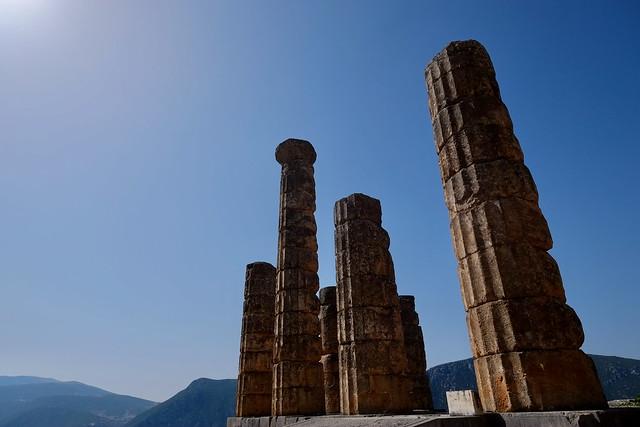 Le temple d'Apollon (Delphes) - Ναός του Απόλλωνα (Δελφοί) - Temple of Apollo (Delphi)