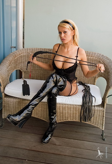 Mistress Sabrina is waiting on her balcony