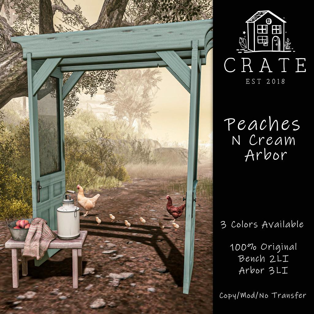 crate's Peaches N Cream Arbor for Anthem <3