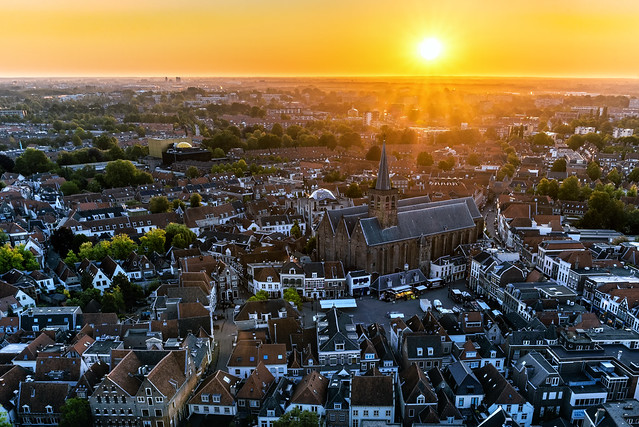 Amersfoort at Sunrise