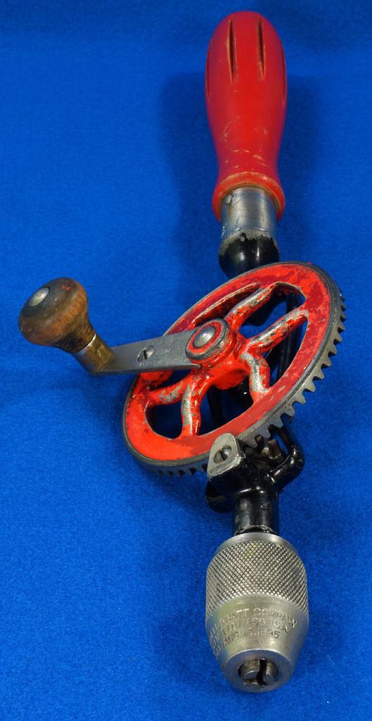 RD27064 Antique 1895 Goodell-Pratt Egg Beater Hand Drill No. 655 DSC06505