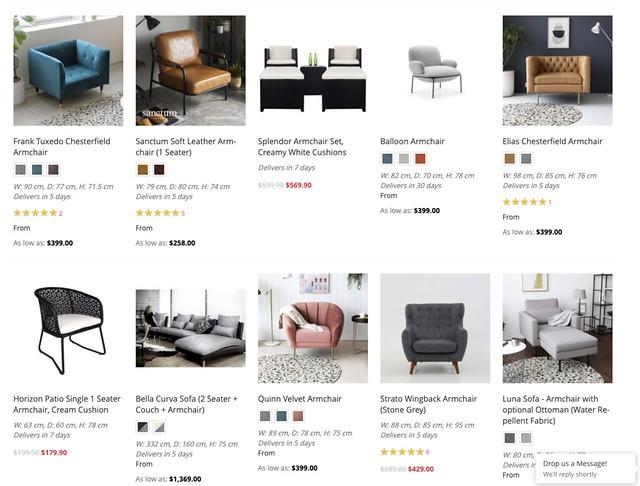 bedandbasics armchairs