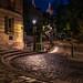 La lune sur le Sacré-Coeur - Rue de l'Abreuvoir - Paris