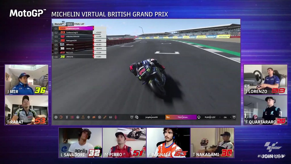 MotoGP Virtual Race British JL99 Finish