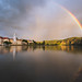 Incredible double rainbow over the Danube at Durnstein