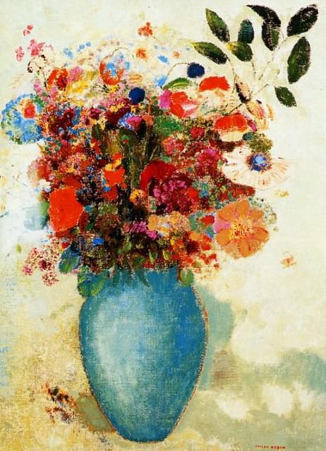 Одилон Редон, Цветы в вазе бирюзового цвета