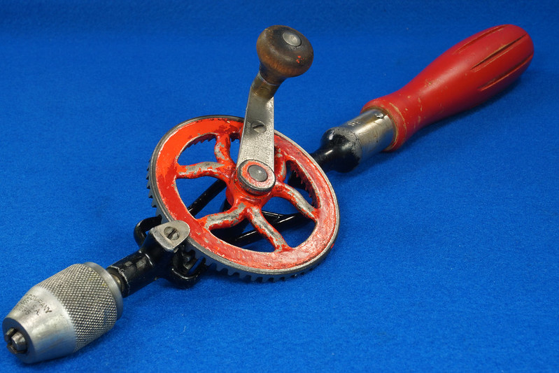 RD27064 Antique 1895 Goodell-Pratt Egg Beater Hand Drill No. 655 DSC06508