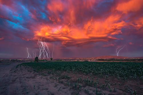 storm story stormy landscape scape skyscape sky clouds cloud colorful color colors lightning thunder rain rainy washington easternwashington pasco northwest pacificnorthwest field explore