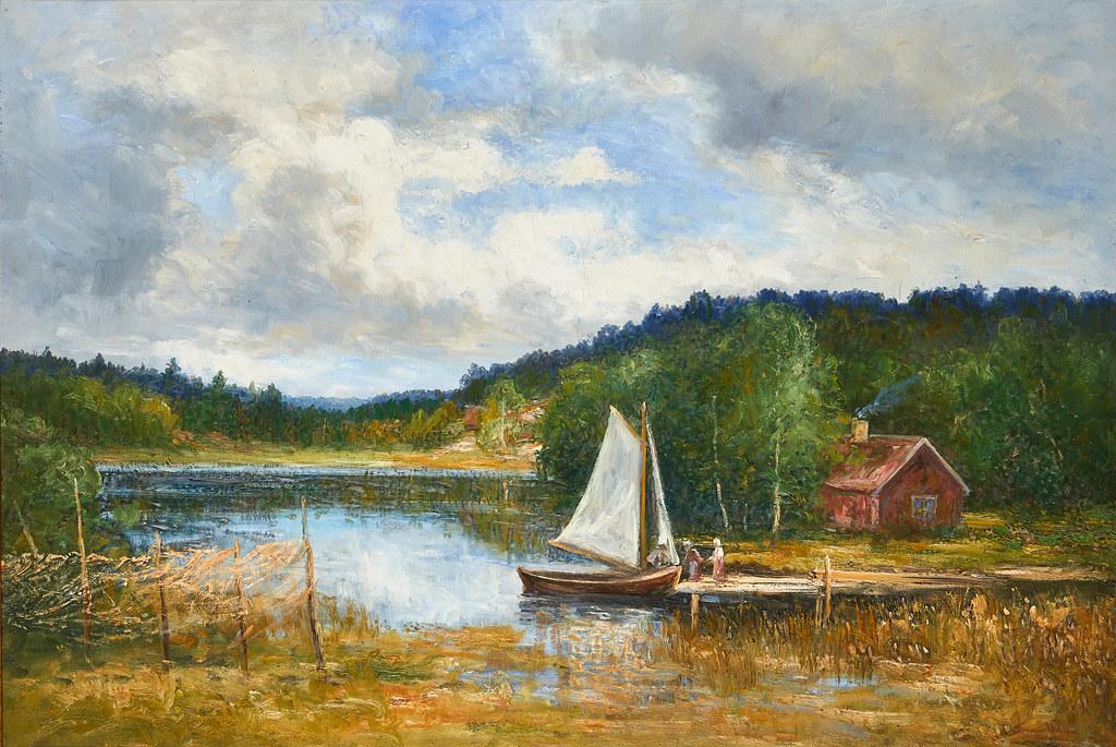Severin Nilson «Summer landscape from Brosjon»