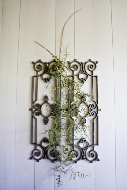 Ijzeren ornamenten met asparagus