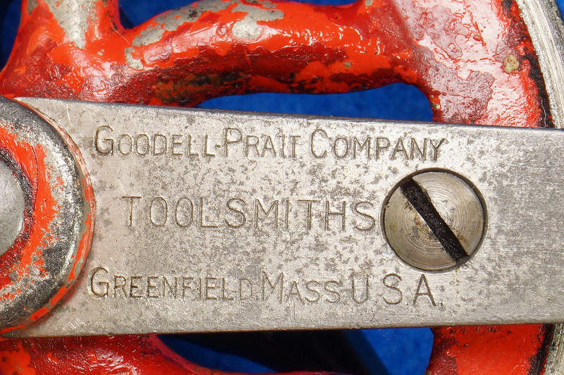 RD27064 Antique 1895 Goodell-Pratt Egg Beater Hand Drill No. 655 DSC06499