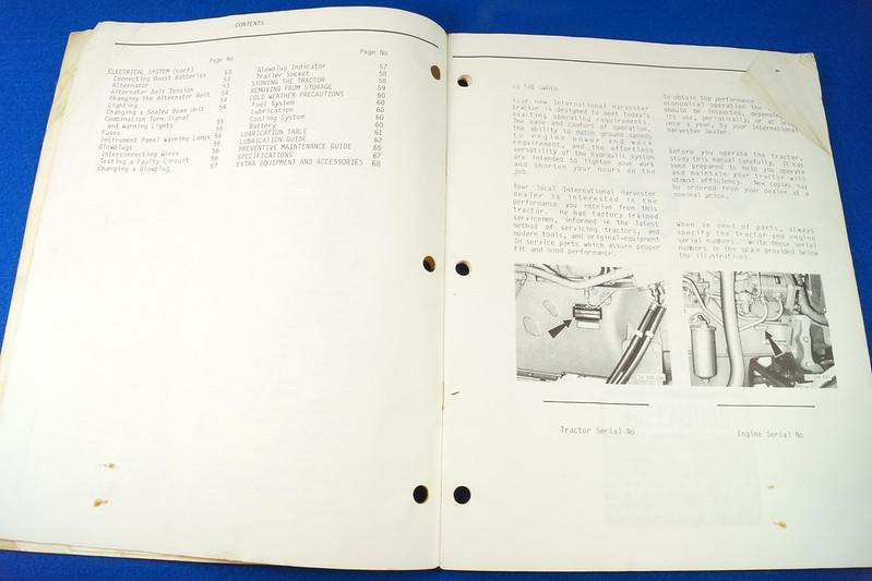 RD24449 Vintage Case International 384 Tractor N.A.O. Operators Manual 1093403R3 DSC06536