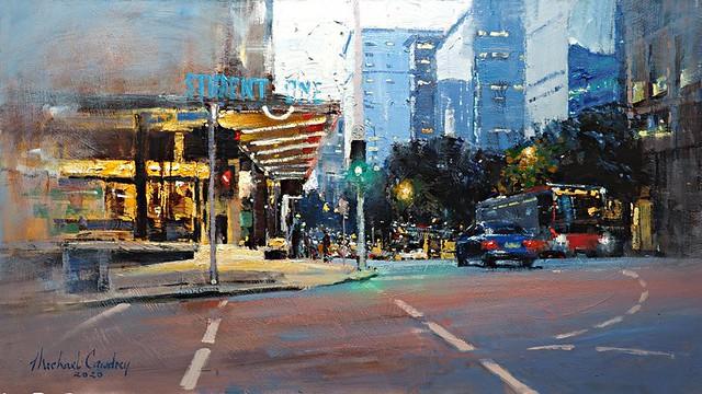 Evening Descends On Adelaide Street