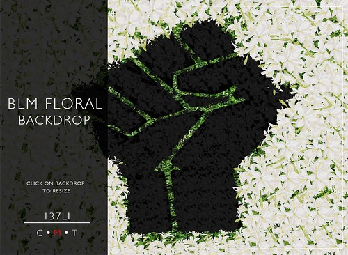 FREE BLM Floral Backdrop - PLS READ