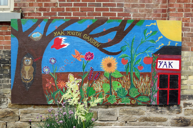 A colourful mural depicting the wonders of nature at the Yak Youth Centre in Perth, Ontario