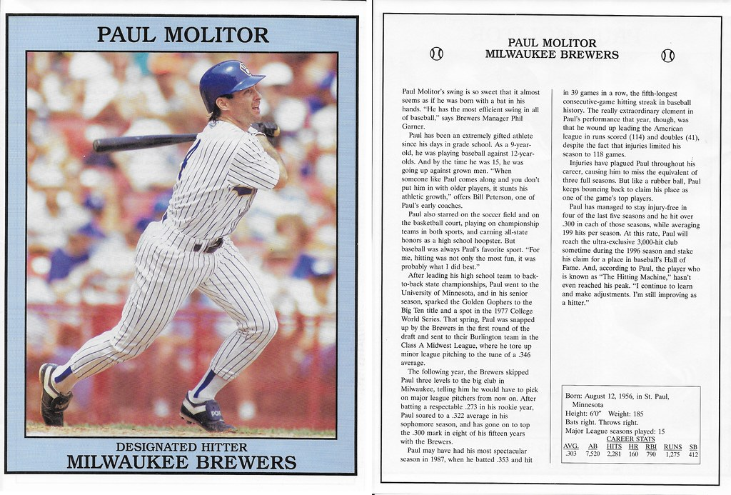 1993 East End Pub Poster Paul Molitor