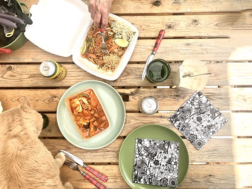vegan thai food, pgad thai takeaway neighbourhood food truck, sweden, april - may 2020 -