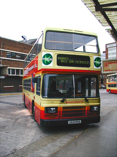 (First) Eastern Counties Bus 113 at Norwich Bus Station