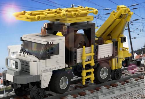"""LEGO """" Camião Inspeção da Cantenária"""" (MOW)"""