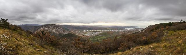 Wartsila valley near Trieste. Panorama della valle con la Wartsila.