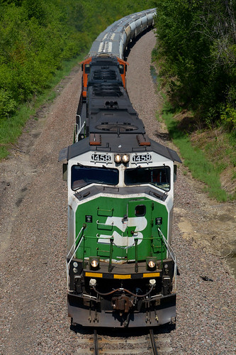 bn burlington northern bnsf santa fe emd sd60m 1458 staples subdivision gfdntw lincoln mn minnesota