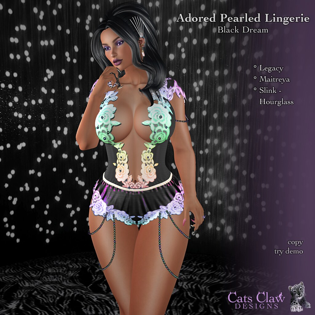 _CCD_ ad Adored Pearled Lingerie Black Dream