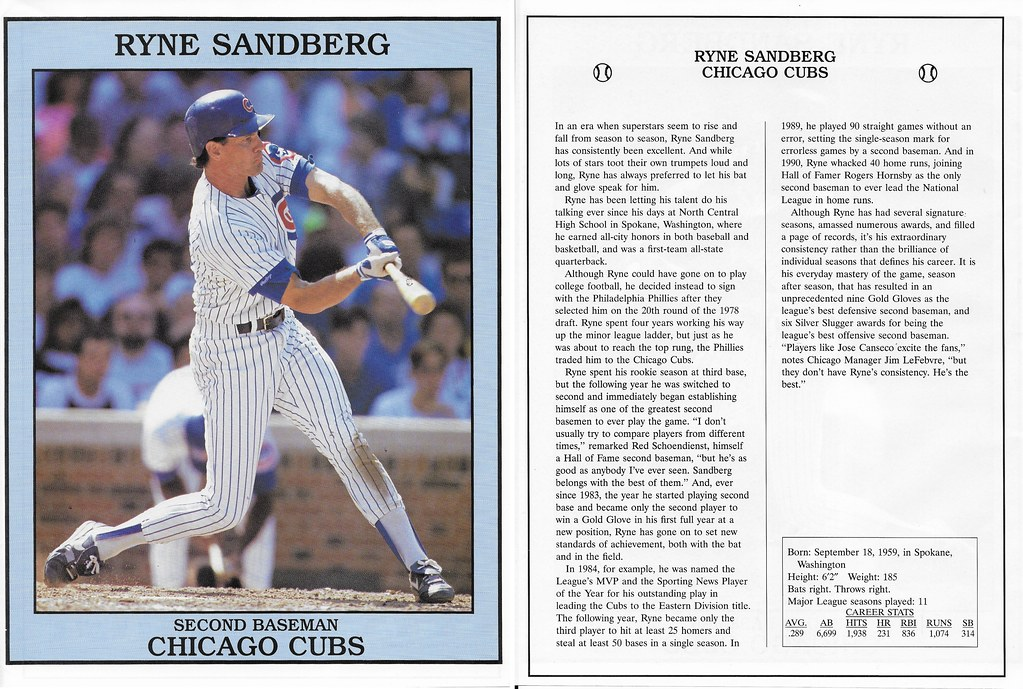 1993 East End Pub Poster Ryne Sandberg