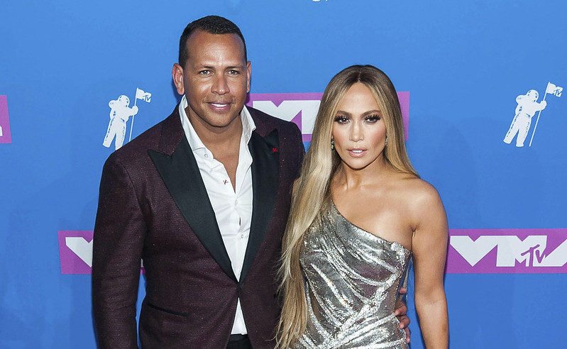 Alex Rodriguez(左)與Jennifer Lopez(右)。(達志影像資料照)