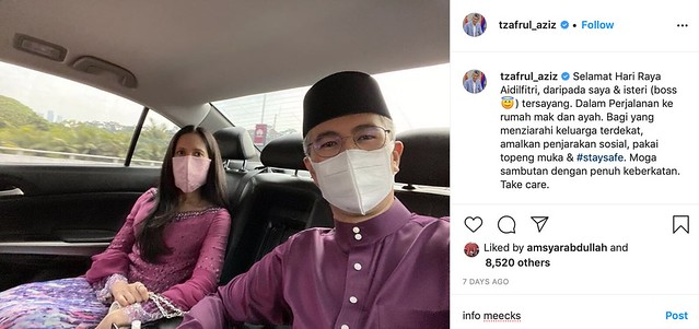 Asyik Sibuk Dengan Kewangan Negara, Kini Tengku Zafrul Tayang Isteri Di IG. Kecantikan Jadi Perhatian Ramai