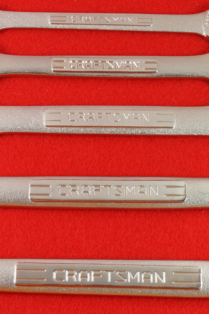 RD30112 Craftsman 5 pc Open End Wrench Set 9 44616 in Pouch DSC06714
