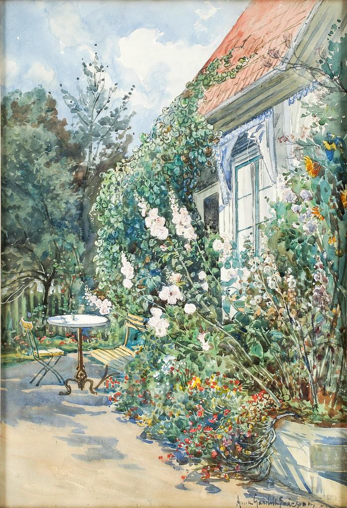 Anna Gardell-Ericson «Rose against house facade»