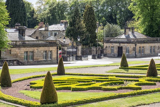 Gardens, Bowes Museum, Barnard Castle, England