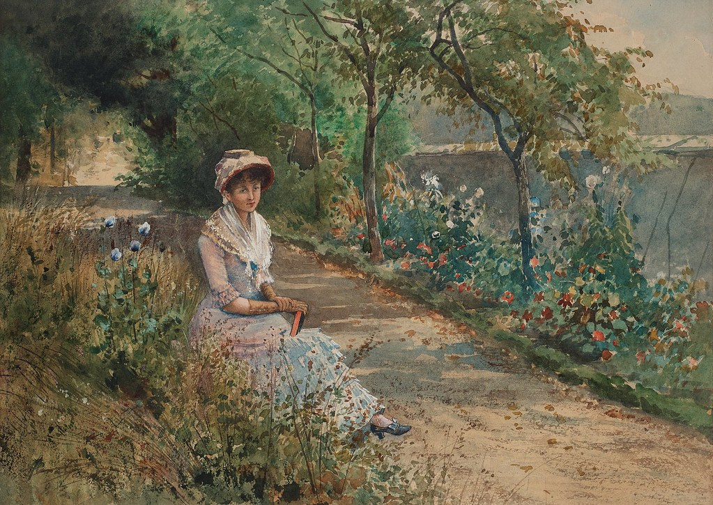 Anna Gardell-Ericson «French park scene»