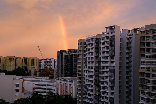 Rainbow over Punggol