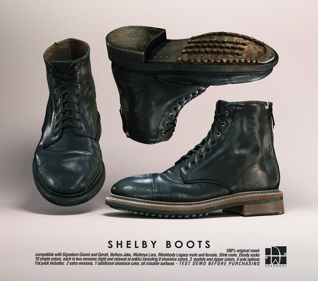 [Deadwool] Shelby boots (unisex)