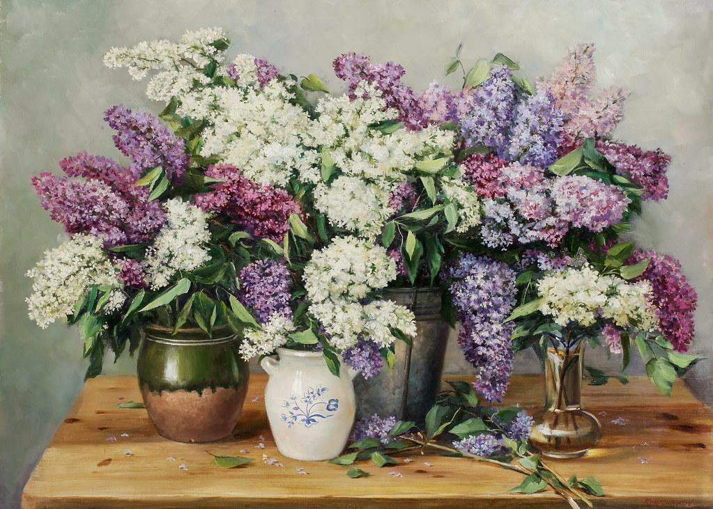 Вячеслав Ключников «Сирень в вазе»