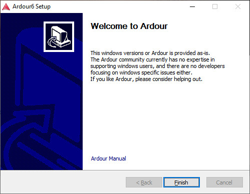 Ardour6_Welcome_Screen_Windows