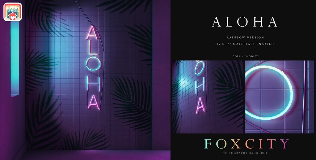 FOXCITY. Photo Booth - Aloha (Rainbow) @ SL Pride At Home