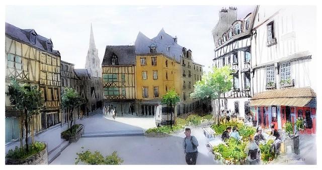 Rouen - Normandie - France - pl du Lt. Auber