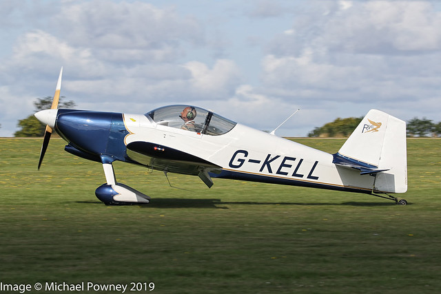 G-KELL - 1998 build Vans RV-6, arriving on Runway 21L at Sywell during the 2019 LAA Rally