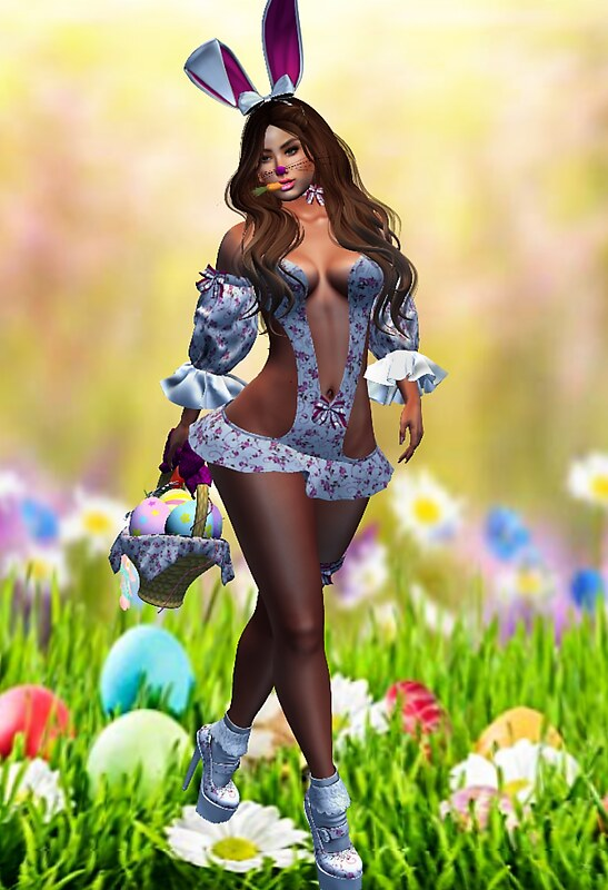 Rose Easter Bunny