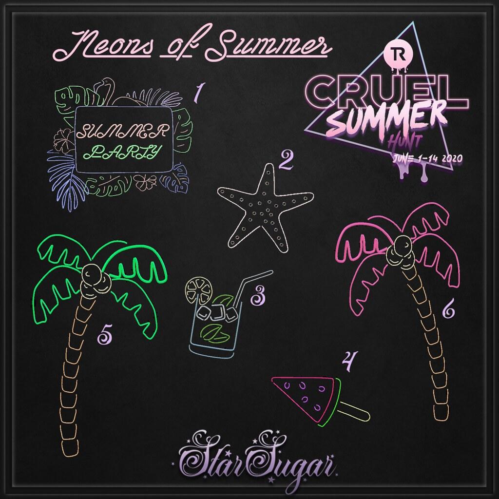 Neons of summer