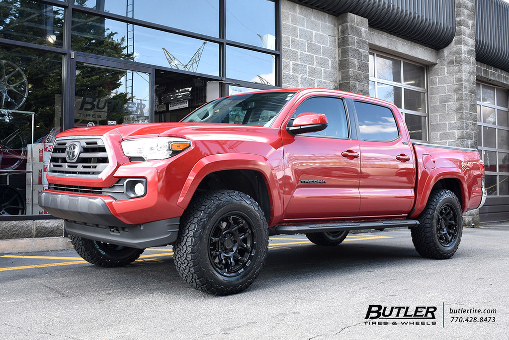 Toyota Tacoma With 18in Black Rhino Overland Wheels And Bf Flickr