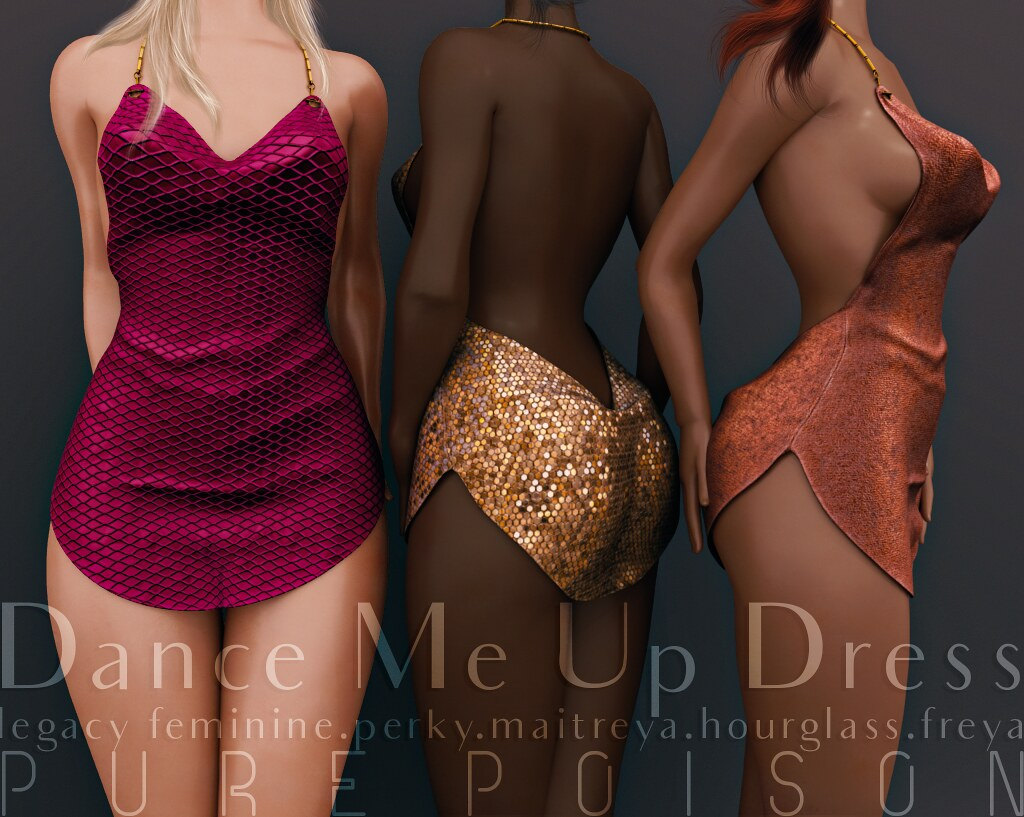 Pure Poison – Dance Me Up Dress – @ FaMESHed