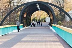 Footbridge across River Moscow near Gorky Park.