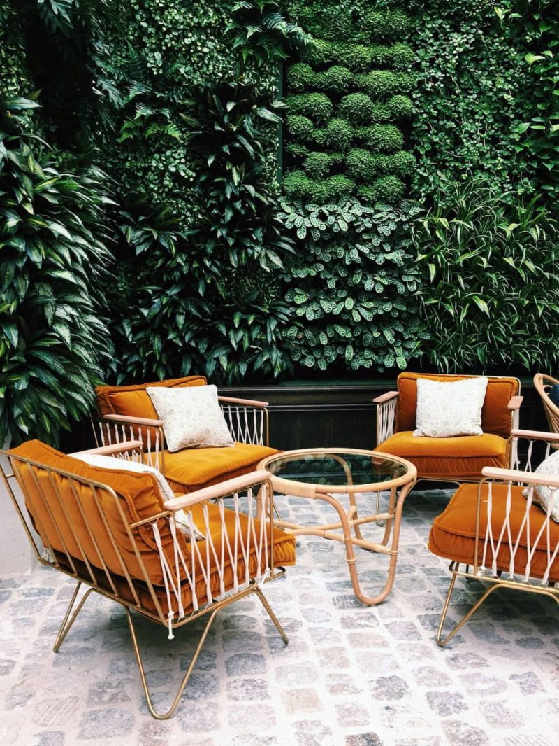 Outdoor Space Ideas | Outdoor Decor | Outdoor Oasis Backyard | Super Chic Backyard Ideas | Outdoor Space Inspiration | Dream Backyard | 5 Tips for Creating a Cozy Outdoor Oasis at Your Home | Backyards that Inspire Me | Terrace | Porch | Deck | Best Decorated Small Backyards on Pinterest | Colorful Patio Inspiration | Outdoor Orange Rattan Furniture Inspiration | Hoxton Hotel Paris Outdoor Soho House